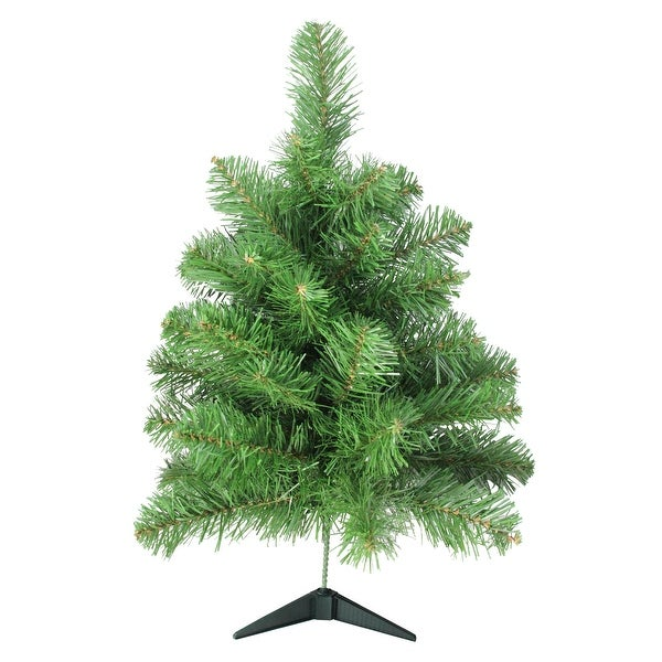 """18"""" x 10"""" Noble Pine Artificial Christmas Tree - Unlit - green"""