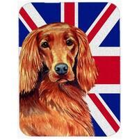 7.75 x 9.25 In. Irish Setter With English Union Jack British Flag