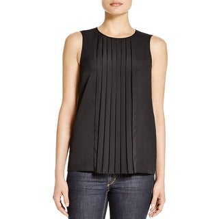 MICHAEL Michael Kors Womens Blouse Pleated Chiffon