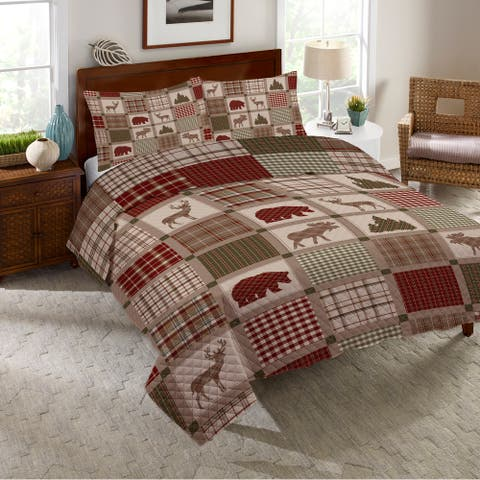 Woodland Patch King Quilt Set