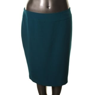 Kasper Womens Plus Stretch Knee-Length Pencil Skirt - 20W
