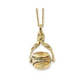 Goldtone 3 Locket Necklace - 30in