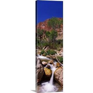 """Little Nankoweap Creek flowing through rocks, Arizona"" Canvas Wall Art"