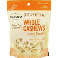 Woodstock Farms - Roasted Unsalted Whole Cashews ( 8 - 6 OZ)