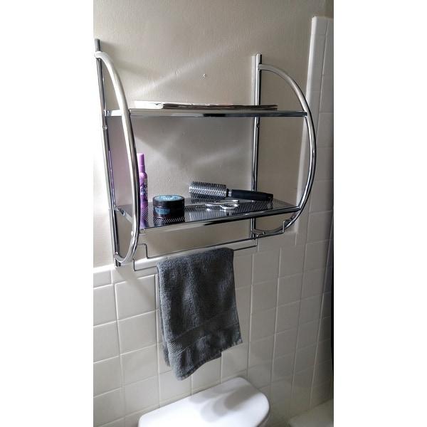 Shop Organize It All 1753w B Chrome Two Tier Shelf With Towel Bars