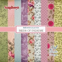 """Scrapberry's Birds Of Paradise Paper Pack 6""""X6"""" 24/Pkg-12 Single-Sided Designs/2 Each"""