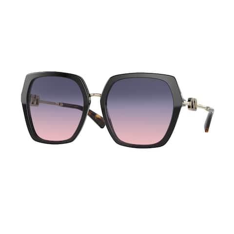 Valentino VA4081 5001I6 57 Black Woman Irregular Sunglasses