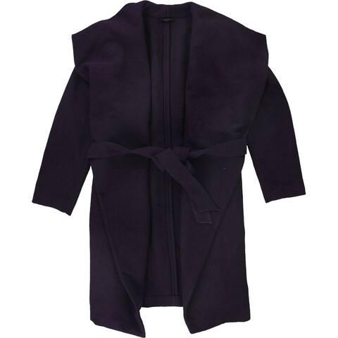 Alfani Womens Drape-Front Wrap Jacket