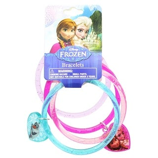 Disney Frozen Ring Bracelets with Heart Charm, 4-Pack - Multi