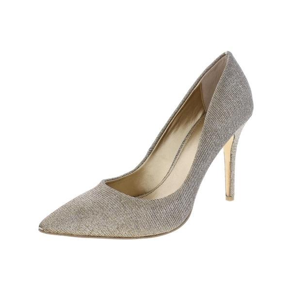 Badgley Mischka Womens Eleanora II Dress Heels Metallic Pointy Toe
