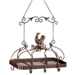 Country Rooster Kitchen Pot Rack|https://ak1.ostkcdn.com/images/products/is/images/direct/b9827aa3b1ac87abd7ce9711b843eda76e27f7e0/Country-Rooster-Kitchen-Pot-Rack.jpg?impolicy=medium