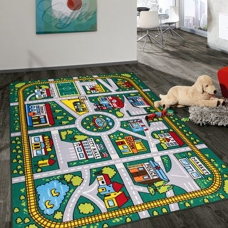 Link to Kids Educational Learning City Life Road Non Slip Area Rug Similar Items in Rugs