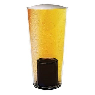 Urban Trend Mystic Pint Glass - 27 oz Beer Glass with Fortuneteller on Bottom - 7.5 in.