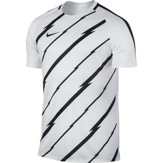Nike NEW White Mens Size Large L Soccer Training Graphic Jersey Tee