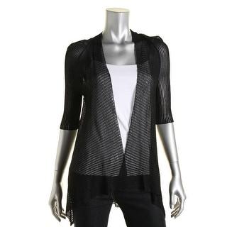 Eileen Fisher Womens Sheer Open Front Cardigan Sweater - XS