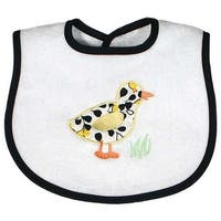 Raindrops Unisex Baby Duck Appliqued Bib, Black - One size