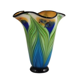 Dale Tiffany AV15415 Kalmia 13 Inch Tall Hand Blown Glass Vase