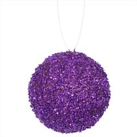 4.75 in. Purple Majesty Sequin And Glitter Drenched Christmas Ball