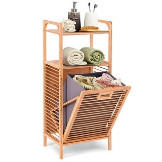 Shop Household Essentials Tilt Out Bamboo Slat Laundry