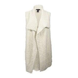 Style & Co. Women's Plus Size Eyelash Ribbed Vest (3X, Warm Ivory Combo)
