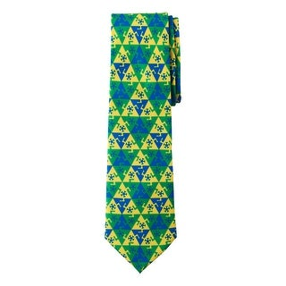 Jacob Alexander Brazil Country Flag Colors Men's Necktie - Brasil Triangle Soccer Football Pattern