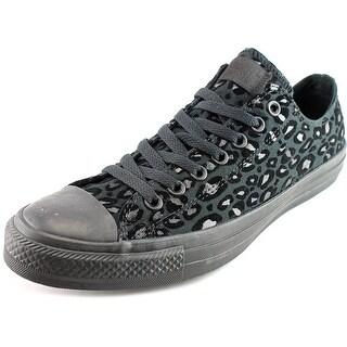 Converse Chuck Taylor Ox Men Round Toe Canvas Black Sneakers