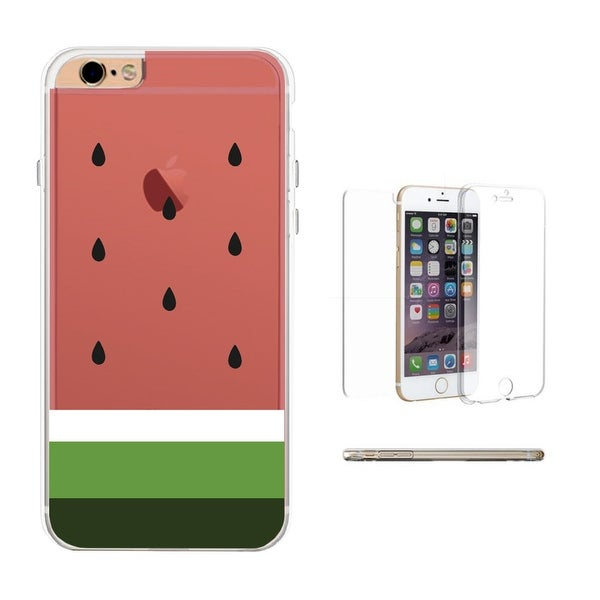 360° Full Protection Watermelon Clear iPhone Cover Cute Transparent Phone Cases