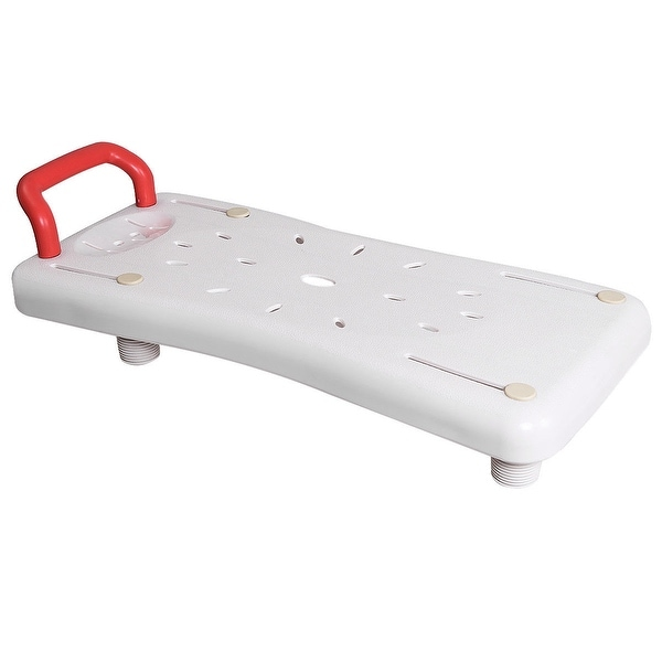 Shop Gymax Portable Bathtubs Shower Bench Seat Adjustable Width ...