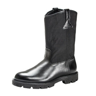"Rocky Work Boots Mens 10"" Pull On Wellington Light Black FQ0006300"