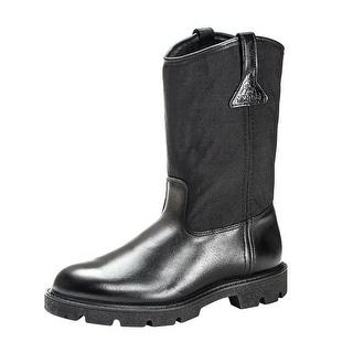 "Rocky Work Boots Mens 10"" Pull On Wellington Light Black FQ0006300"