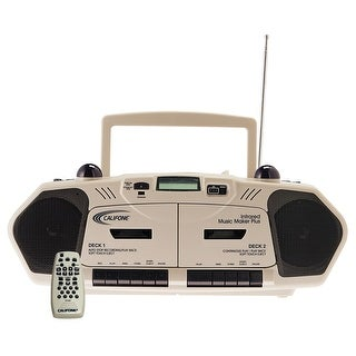 Califone 2395IR Wireless Infrared Music Maker with Dual-Cassette, CD Player and AM/FM Radio