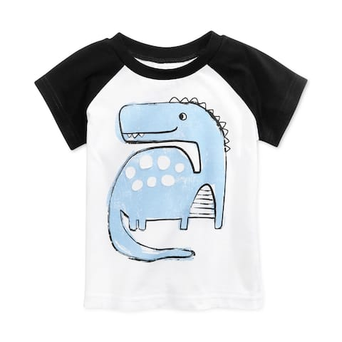 First Impressions Boys Dino Basic T-Shirt, White, 18 mos