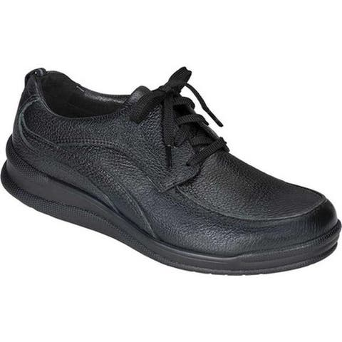 SAS Men's Move On Walking Shoe Black Leather