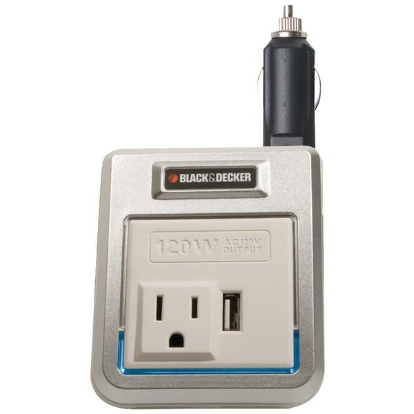 Black & Decker Pi120P 120-Watt Power Inverter With Usb Port