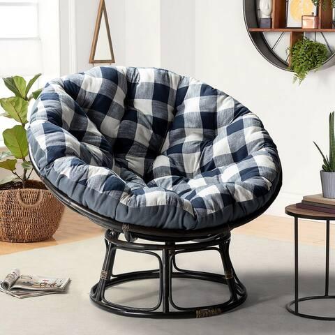 Camilo Rattan Papasan Chair With Cushion
