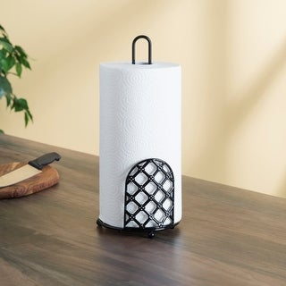 Link to Lattice Collection Paper Towel Holder, Black Similar Items in Kitchen Storage