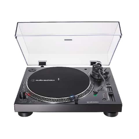 Audio-Technica AT-LP120XUSB Direct-Drive USB Turntable (Black) with Cleaner Kit