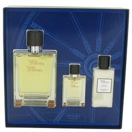 Terre D'Hermes by Hermes Gift Set -- 3.3 oz Eau De Toilette Spray + .42 oz Mini EDT Spray + 1.35 oz After Shave Balm - Men