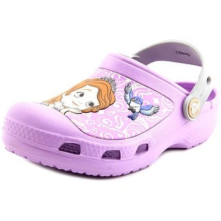 Crocs Sofia The First Round Toe Synthetic Clogs