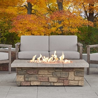 Link to Sedona Rectangle LP Gas Fire Table w/Natural Gas Conversion Kit Similar Items in Fire Pits & Chimineas