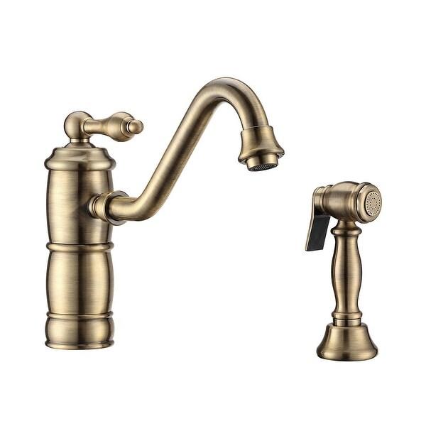 Whitehaus WHKTSL3-2200-NT Vintage III Plus 1.5 GPM Single Hole Kitchen Faucet