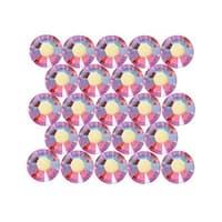 Swarovski Crystal, Round Flatback Rhinestone Hotfix SS20 4.6mm, 50 Pieces, Light Siam AB