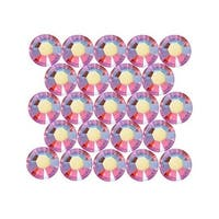 Swarovski Elements Crystal, Round Flatback Rhinestone Hotfix SS20 4.6mm, 50 Pieces, Light Siam AB