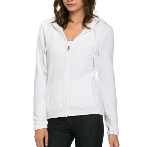 Women's Full Zip Fleece Hoodie Jacket White