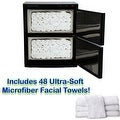 LCL Beauty Black High Capacity Hot Towel Cabinet and Ultraviolet Sterilizer with 48 Towels - Thumbnail 4