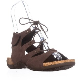 Bearpaw Jodie Ghillie Gladiator Sandals, Bark