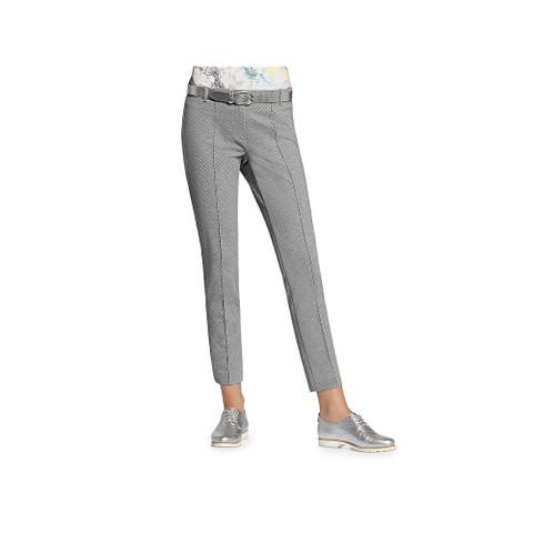 Basler Womens Lea Skinny Pants Printed Cropped