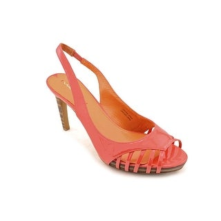 Via Spiga Zabrina 2 Women Open-Toe Patent Leather Pink Slingback Sandal