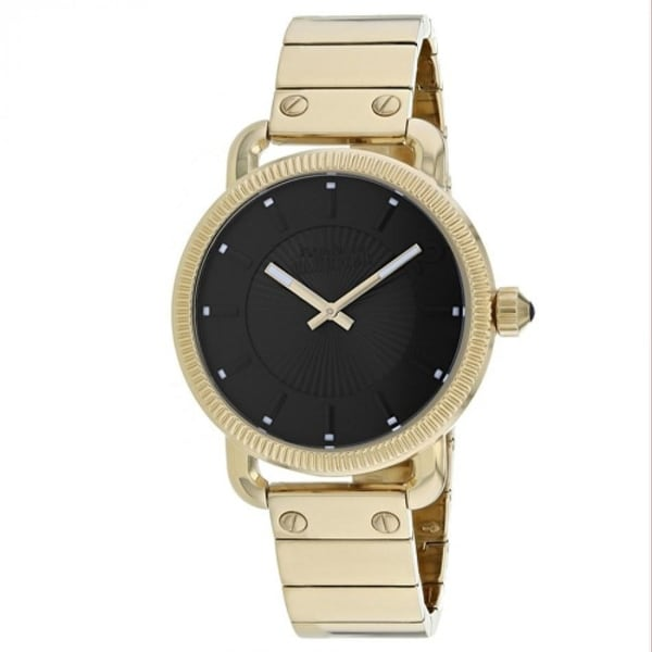 Jean Paul Gaultier Men's 8504403 'Index' Gold-Tone Stainless Steel Watch - Black. Opens flyout.