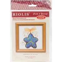 """Magic Star Counted Cross Stitch Kit-4""""X4"""" 14 Count"""